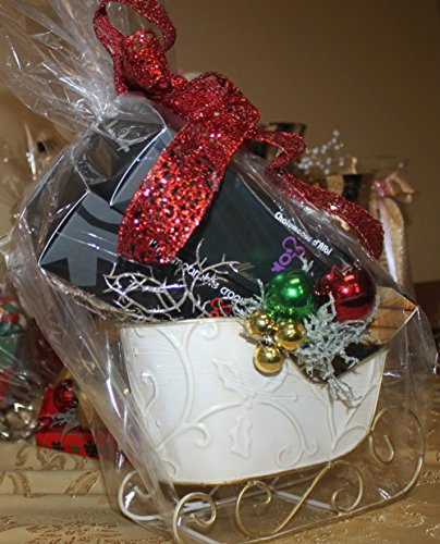 Christmas Holidays Gift Basket Sleigh of Fancy French Delicacies