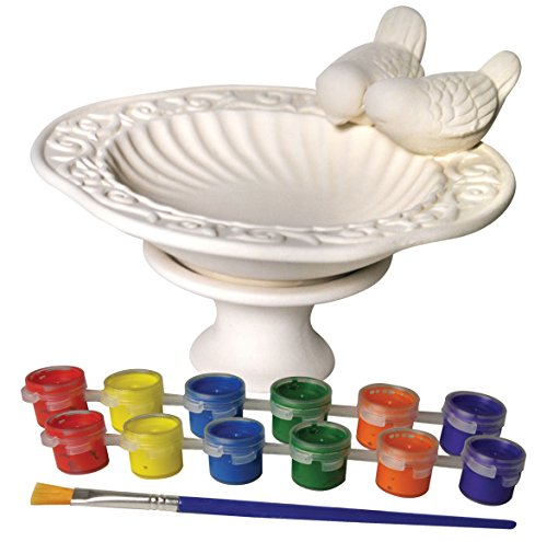 (Sassafras My Little Garden: Paint Your Own Ceramic Bird Bath Paint Kit)