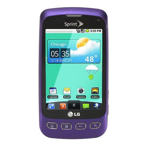 amazon com lg optimus s android 2 2 sprint phone purple cell rh amazon com LG Optimus S III Sprint LG Optimus S Specs