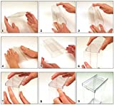 DollSafe Clear Folding Display Box with White
