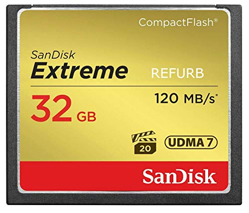 SanDisk Extreme 32GB CF Card 120MB/s SDCFXS-032G-X46 (Certified Refurbished)