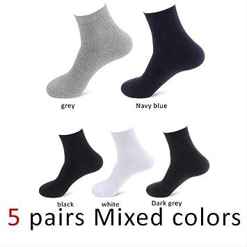 XWASOCK 5 Pares/Lote 100% algodón Puro Hombres Calcetines Casual ...