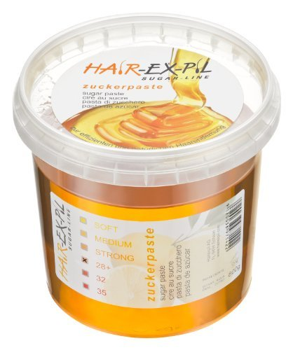 Sugar Paste 28+ - with extreme adhesive effect! 800gr container, Sugaring Sugar Paste by Hairexpil AG