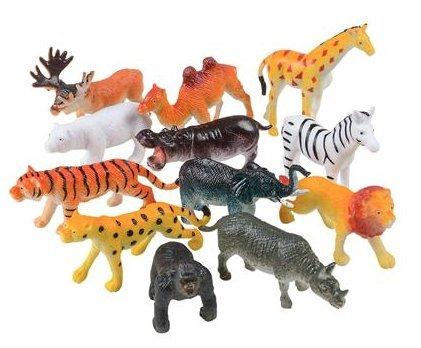 Amazon Com 24 2 5 Zoo Animal Plastic Figures Party Favor