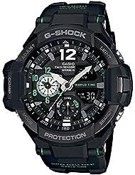 G-Shock Mens GA-1100 Gravitymaster Watch, Black/Silver, One Size
