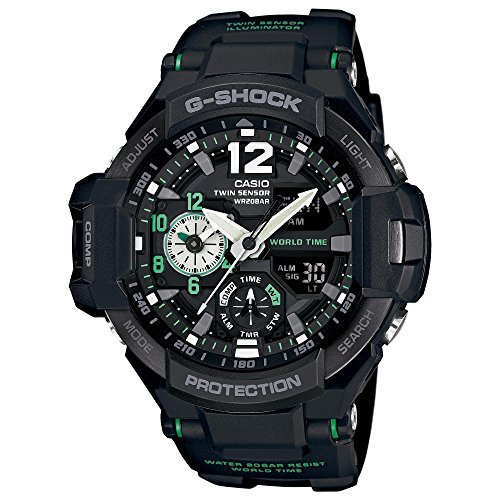 G Shock GA 1100 Gravitymaster Watch Silver