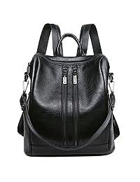 Greeniris Ladies PU Leather Schoolbags Shoulder Bags Backpacks Purse for Women/Teenage Girls