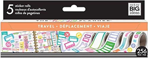 Me & My Big Ideas PRS-11 Roll Travel Happy Planner Sticker, Multicolor by Me & My Big Ideas
