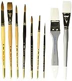 Silver Brush EK-930S Everett Raymond Kinstler Watercolor Brush Set, 9 Per Pack