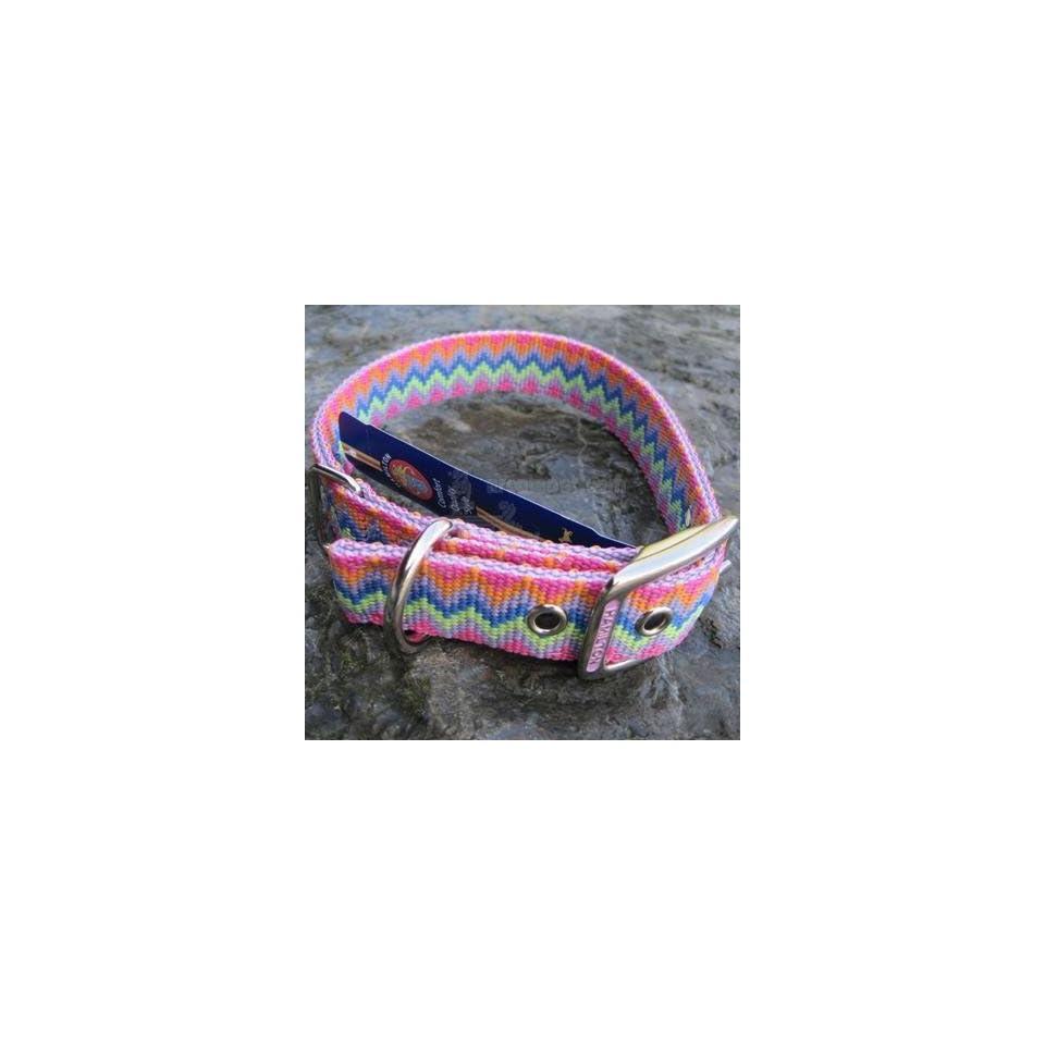 Hamilton Nylon Dog Collar Lavender Weave 1 x 20 inch Pet
