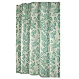 Flower and Bird Shower Curtain Green Shower Curtains Waterproof, 180x180 cm