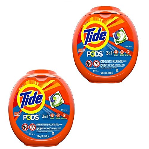 Tide PODS 3 in 1 HE Turbo Laundry Detergent Pacs, Original Scent, 81 Count Tub, Packaging May Vary (2 Pack 81 Count)