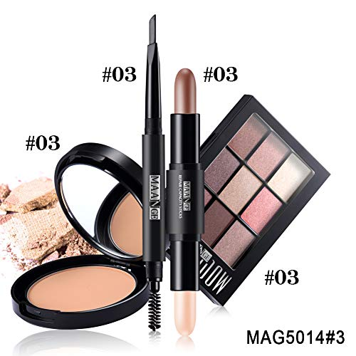 4Pcs/Set Makup Tool Kit Must Have Cosmetics Including Eyeshadow Lipstick With Bag Makeup Set 3 (For Brows Must Kit Have)