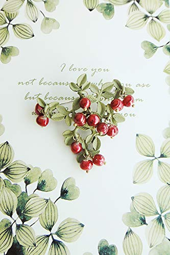 POLPEP Natural Pearls Plated Color Corsage Brooch Lapel pin Badge Grapes Creative s925 Silver Earrings Earring Dangler Eardrop Women Girls Models (Female Insignia Ring)