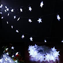 AMARS 5M/16.4FT Fairy Stars Battery String Lights 40 LED Bedroom Garden Starry String Lights Ambient Lighting for Party, Indoor, Outdoor, Patio, Home, Wedding (White)