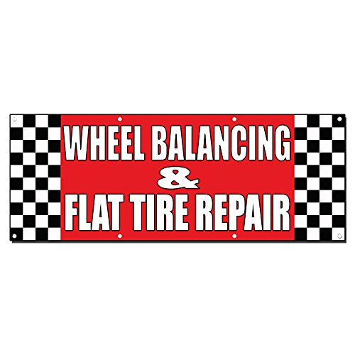 - Wheel Balancing & Flat Tire Repair Body Shop 3 Ft X 6 Ft /W 6 Grommets