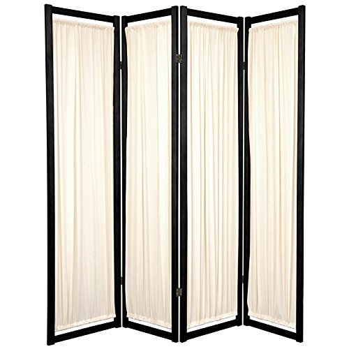 Oriental Furniture 6 ft. Tall Helsinki Shoji Screen – 4 Panel – Black Review
