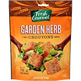 Fresh Gourmet Premium Croutons, Garden Herb, 5 Ounce (Pack of 6)