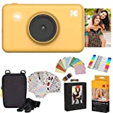 Kodak Mini Shot Instant Camera (Yellow) Gift Bundle + Paper (20 Sheets) + Deluxe Case + 7 Fun Sticker Sets + Twin Tip Markers + Photo Album + Hanging Frames