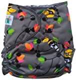 Cloth Diaper Shop Trim Design Waterproof, Reuseable, Leakproof, 4 Layer MF insert Pocket Diaper - One Size Fits all Snap Closure (Kok-kok)