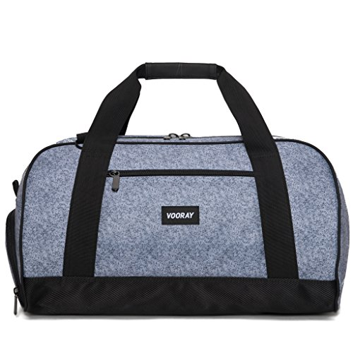 vooray-burner-sport-21-gym-bag-with-shoe-pocket-laundry-bag-heather-gray