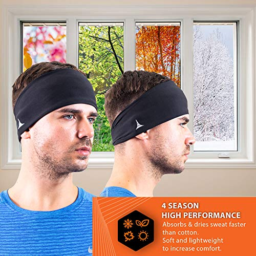 French Fitness Revolution Mens Headband - Guys Sweatband & Sports Headband for Running, Crossfit, Working Out and Dominating Your Competition - Performance Stretch & Moisture Wicking by French Fitness Revolution (Image #2)