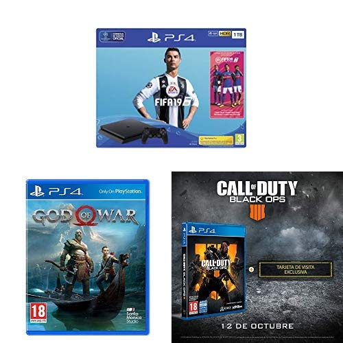 PlayStation 4 (PS4) - Consola 1 TB + FIFA 19 - Edición ...