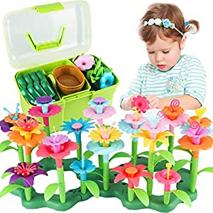 Best Epic Trends 5198crWwKYL._SS300_ Girls Toys Age 3-6 Year Old Toddler Toys for Girls Gifts Flower Garden Building Toy Educational Activity Stem Toys(130…