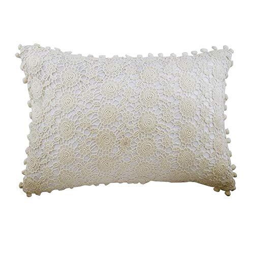 The HomeCentric Blanco marfil Fundas para Cojines 30 x 55 cm ...
