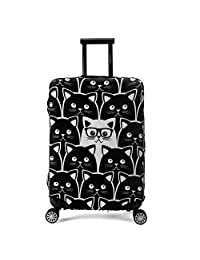 "Madifennina Luggage Protector Cover Suitcase Protective Cover Trolley Luggage Case for 22''-32'' Inch Luggage (Cat, L (Fit 26"" - 28"" Suitcase))"