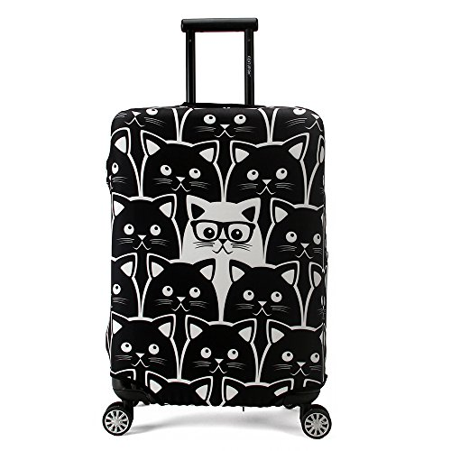 Madifennina Spandex Travel Luggage Protector Suitcase Cover Fit 26-28 Inch Luggage (L)
