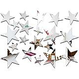 Loriajpミラーウォールステッカー 子供部屋や寝室に 5つ星の壁のステッカー