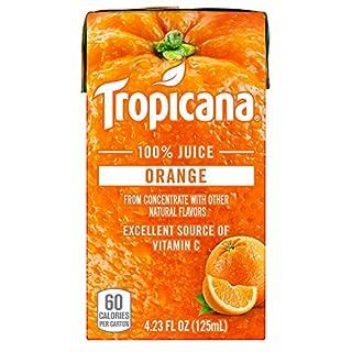 Tropicana 100% Juice Box, Orange Juice, 4.23oz (Pack of 44)