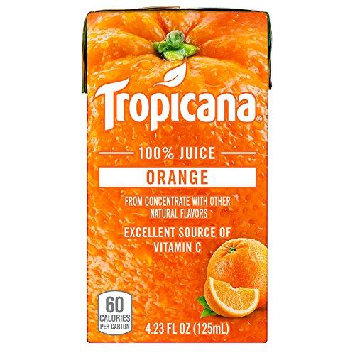 Orange Bottle Juice (Tropicana 100% Juice Box, Orange Juice, 4.23oz (Pack of 44))