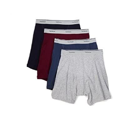 Fruit of the Loom Men's Print Solid X-Size Boxer Brief(Pack of 4) at Amazon Men's Clothing store