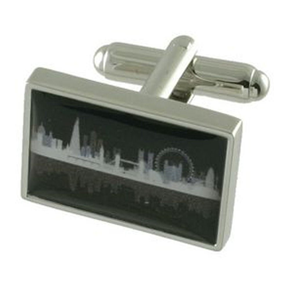 Select Gifts Cuff Links London Cufflinks~City Skyline Engraved Personalised Box