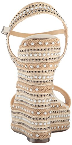 Natur Carminda Damen Keilabsatz mit Schutz Sandalen Weiß Weiß qB8wXZq