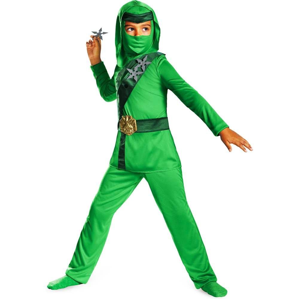Disguise Shadow Ninja Green Master Ninja Classic Boys Costume, One Color, 7-8