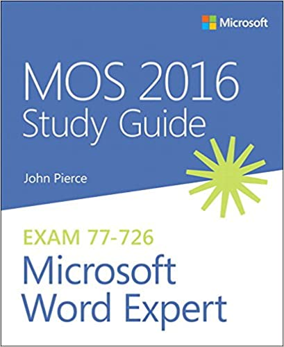 mos 2016 study guide for microsoft excel mos study guide joan
