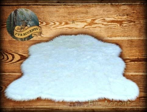 Faux Sheepskin Rug White Large 4 6 x 6 8