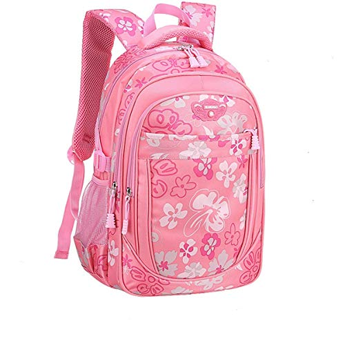 Backpack for Girls Floral College Bookbags Fashion Backpack Shoulder Bag Bookbags(Pink-Small)