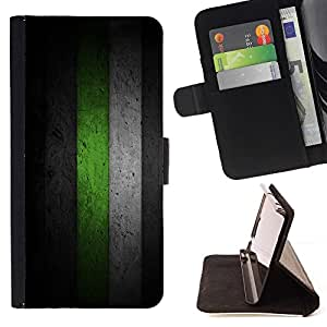 For HTC Desire 820 Black & Green Minimalist Pattern Beautiful Print Wallet Leather Case Cover With Credit Card Slots And Stand Function