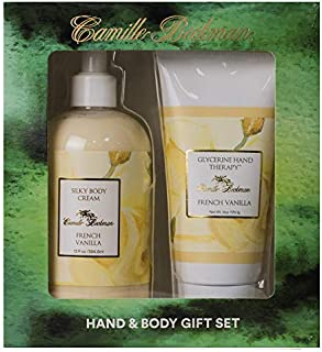 product image for Camille Beckman Hand and Body Duet Set, Silky Body and Glycerine Hand Cream, French Vanilla