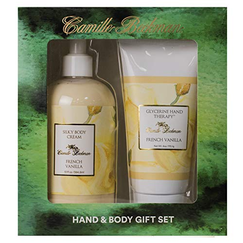 (Camille Beckman Hand and Body Duet Set, Silky Body and Glycerine Hand Cream, French Vanilla)