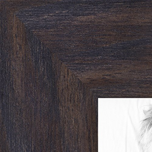 ArtToFrames 14x18 inch Black - Distressed Wood Wood Picture Frame, WOM82223-100-14x18 - Black Wood Distressed Picture Frames
