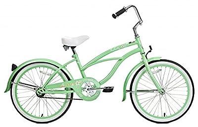 "Micargi Jetta, Mint Green - Girls' 20"" Beach Cruiser Bike"