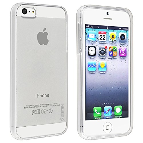 Insten TPU Rubber Ultra Slim Skin Case Cover Compatible with Apple iPhone 5SE / 5S / 5, Clear