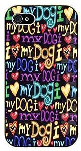 iPhone 5 / 5s I love my dog - black plastic case / dog, animals, dogs