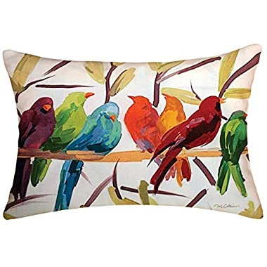 Rectangular Throw Pillow Cover Lumbar Pillow Case Flocked Together 12 x 18 inch Outdoor/ Indoor Pillow Case Fast Shipping from USA by B.