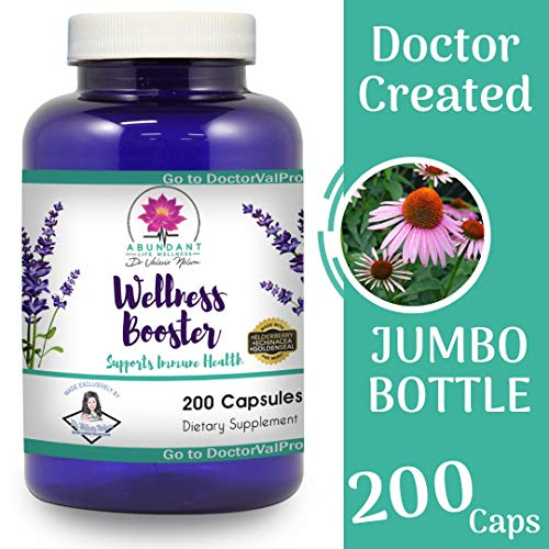 - Echinacea Elderberry Goldenseal & More - 200 Caps - Wellness Boosters - Thousands of Patients Love This - by Dr. Valerie Nelson